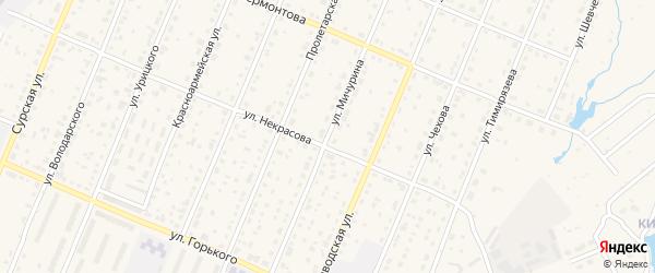 Улица Мичурина на карте Шумерли с номерами домов