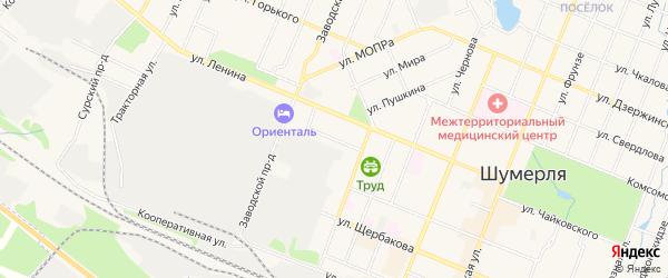 ГСК Прогресс на карте Зеленого переулка с номерами домов