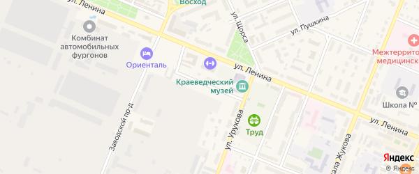 Зеленый переулок на карте Шумерли с номерами домов