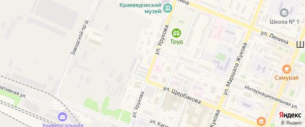 Улица Урукова на карте Шумерли с номерами домов