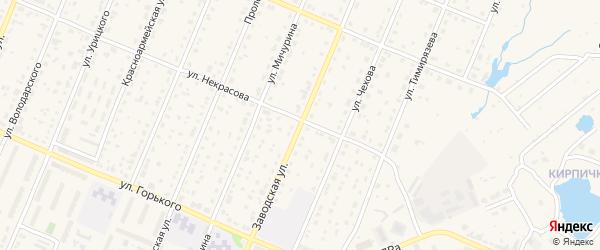 Заводская улица на карте Шумерли с номерами домов