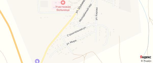 Строительная улица на карте Никольского села с номерами домов