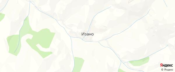 Карта села Изано в Дагестане с улицами и номерами домов