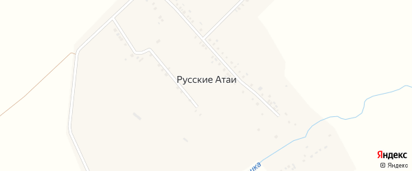Нижняя улица на карте деревни Русские Атаи с номерами домов