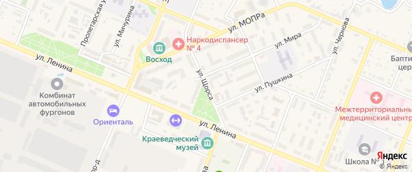 Улица Щорса на карте Шумерли с номерами домов