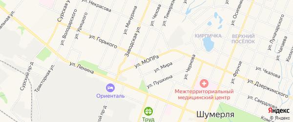 ГСК Овраг на карте улицы МОПРЫ с номерами домов