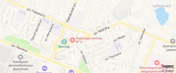 Улица МОПРА на карте Шумерли с номерами домов