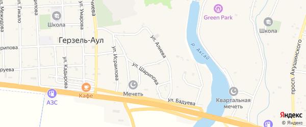 Улица Виситаева на карте села Верхнего Герзель с номерами домов