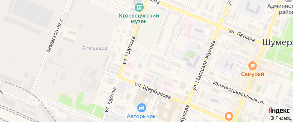Улица Косточкина на карте Шумерли с номерами домов