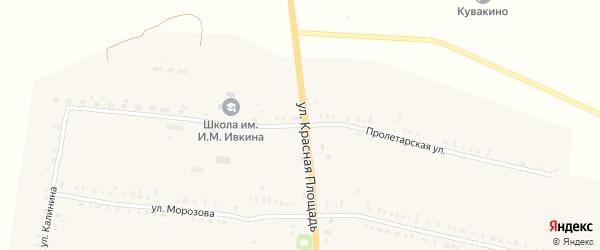 Пролетарская улица на карте села Кувакино с номерами домов