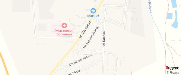 Молодежный переулок на карте Никольского села с номерами домов