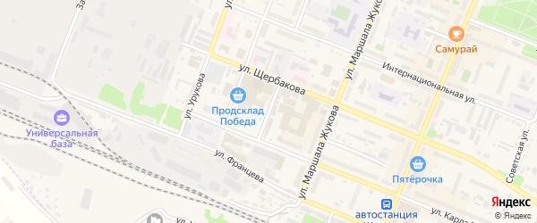 Базарная площадь на карте Шумерли с номерами домов