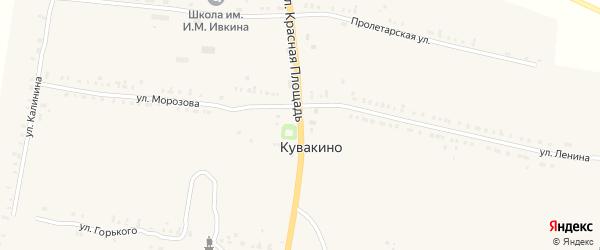 Улица Красная Площадь на карте села Кувакино с номерами домов