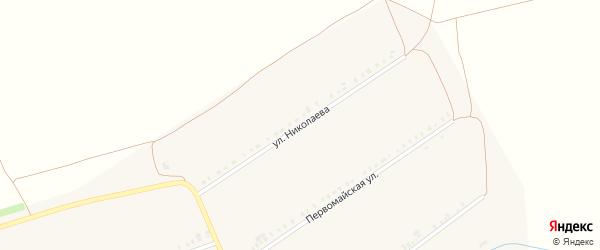 Улица Николаева на карте села Сыреси с номерами домов