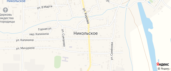 Точка Ферштуцкая животноводческая точка на карте Никольского села с номерами домов