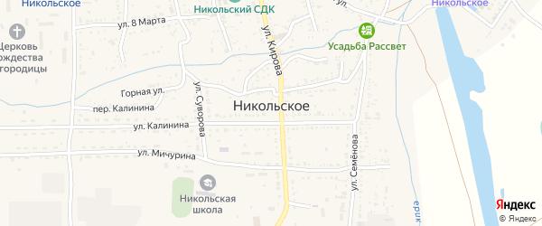Береговая улица на карте Никольского села с номерами домов