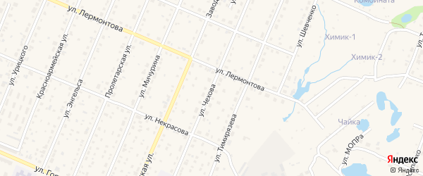 Улица Чехова на карте Шумерли с номерами домов
