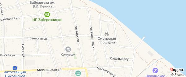 Улица Кириллова на карте Никольского села с номерами домов