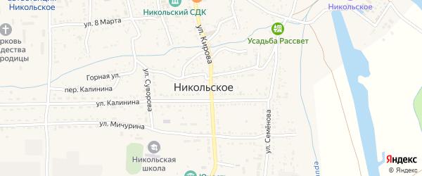 Улица Кирова на карте Никольского села с номерами домов