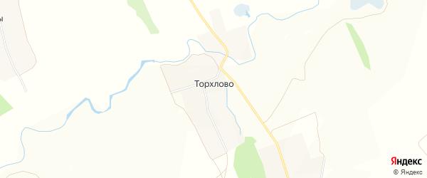 Карта деревни Торхлово в Чувашии с улицами и номерами домов