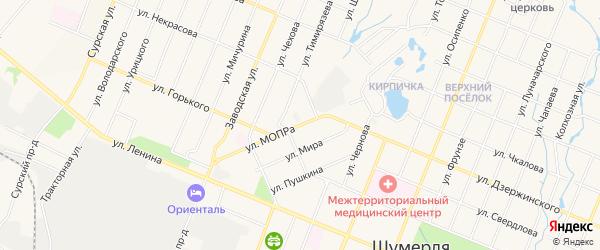 ГСК Мост на карте улицы МОПРЫ с номерами домов