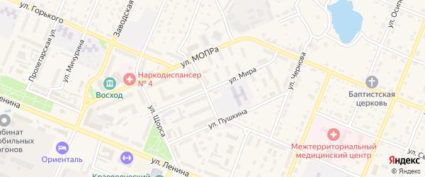 Улица Мира на карте Шумерли с номерами домов