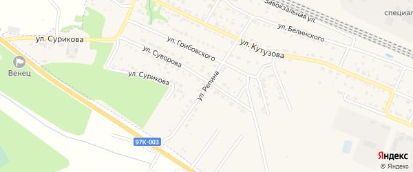 Улица Репина на карте Шумерли с номерами домов