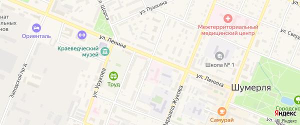 Проезд Мебельщиков на карте Шумерли с номерами домов