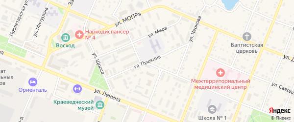 Улица Пушкина на карте Шумерли с номерами домов