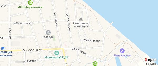 Улица Зои Космодемьянской на карте Никольского села с номерами домов