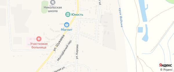 Переулок Мелиораторов на карте Никольского села с номерами домов