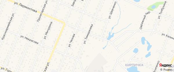 Улица Тимирязева на карте Шумерли с номерами домов