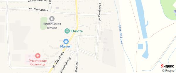 Волжский переулок на карте Никольского села с номерами домов