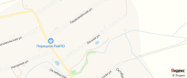 Речная улица на карте села Сыреси с номерами домов