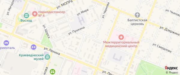 Банковский переулок на карте Шумерли с номерами домов