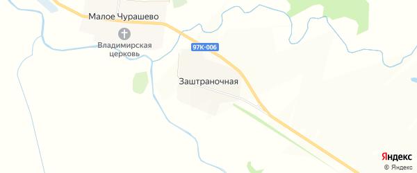 Карта Заштраночной деревни в Чувашии с улицами и номерами домов
