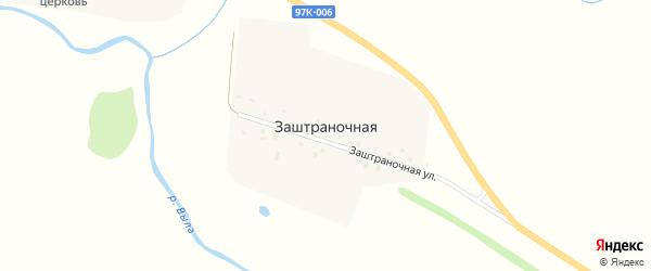 Заштраночная улица на карте Заштраночной деревни с номерами домов