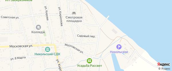Садовый переулок на карте Никольского села с номерами домов