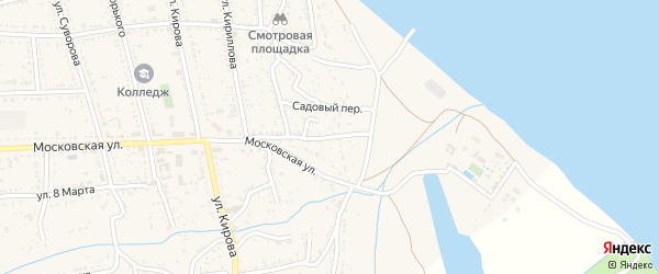 Московский переулок на карте Никольского села с номерами домов