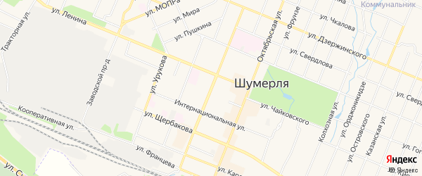 ГСК Лада на карте улицы Маршала Жукова с номерами домов