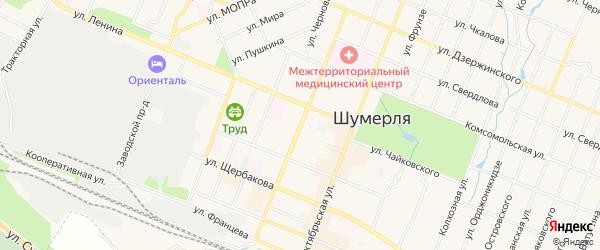 ГСК Москвич на карте улицы Маршала Жукова с номерами домов