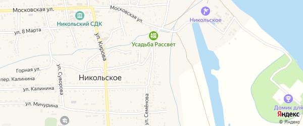 Улица Семенова на карте Никольского села с номерами домов