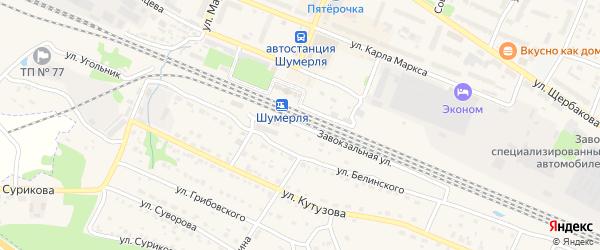 Завокзальная улица на карте разъезда Пинеры с номерами домов