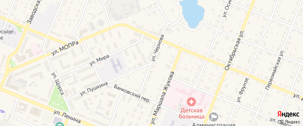 Улица Чернова на карте Шумерли с номерами домов