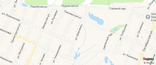 Улица Шевченко на карте Шумерли с номерами домов