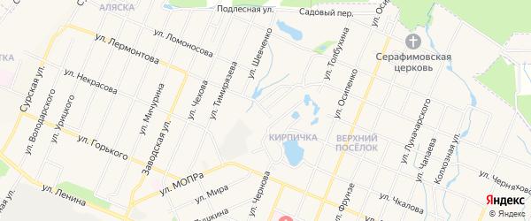 СТ Мичурина-1 на карте Шумерли с номерами домов