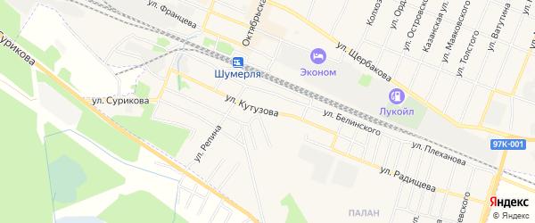 ГСК Коммунальник на карте улицы Кутузова с номерами домов