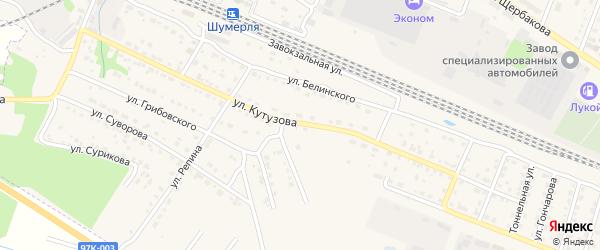 Улица Кутузова на карте Шумерли с номерами домов
