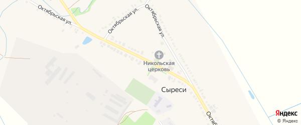 Октябрьская улица на карте села Сыреси с номерами домов