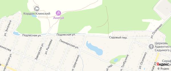 Подлесная улица на карте Шумерли с номерами домов